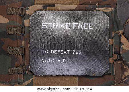 Modern military ballistic SAPI plate.