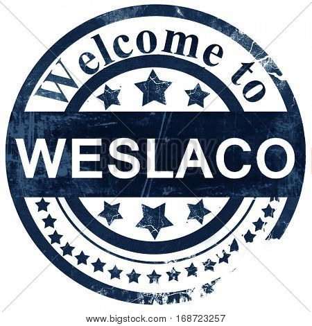 weslaco stamp on white background