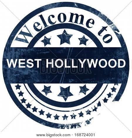 west hollywood stamp on white background