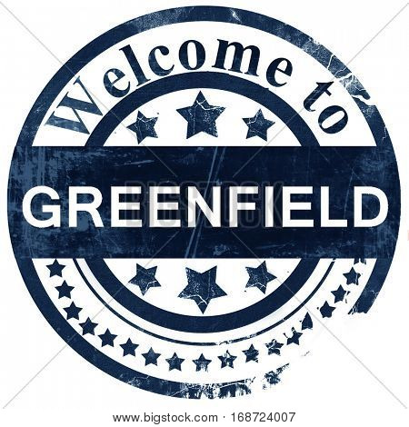greenfield stamp on white background