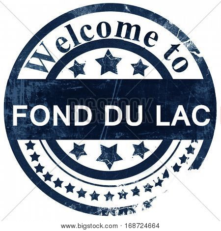fond du lac stamp on white background