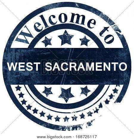 west sacramento stamp on white background