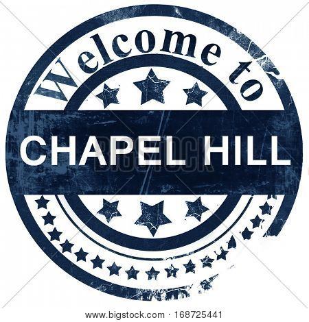 chapel hill stamp on white background