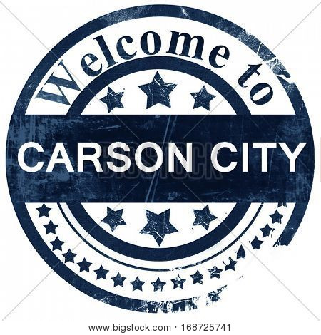carson city stamp on white background