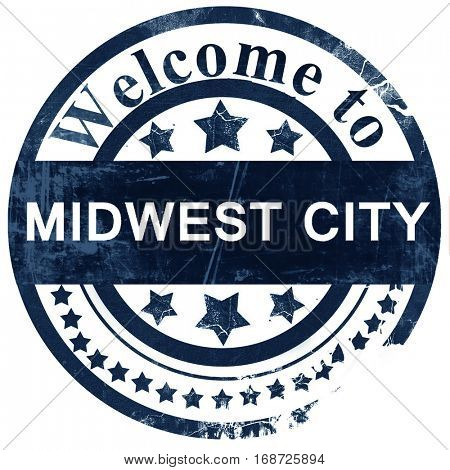 midwest city stamp on white background