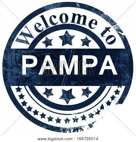 pampa stamp on white background