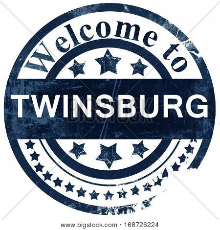 twinsburg stamp on white background