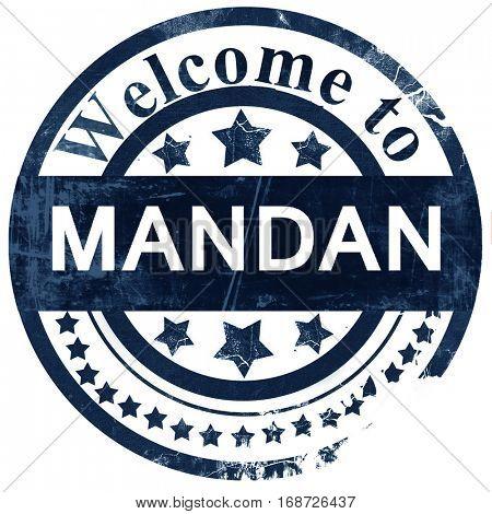 mandan stamp on white background