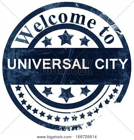universal city stamp on white background