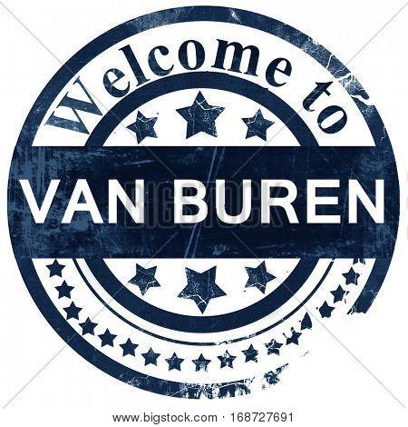 van buren stamp on white background