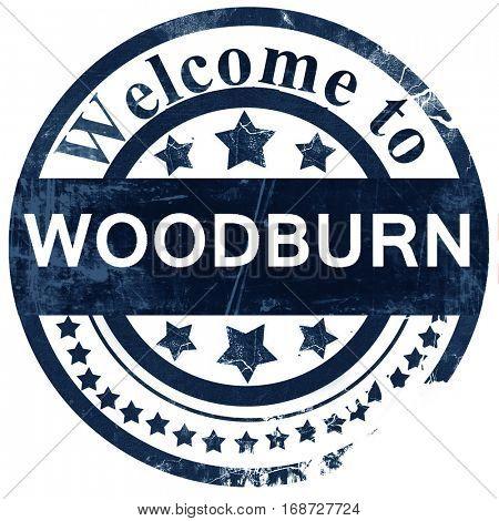 woodburn stamp on white background