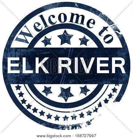 elk river stamp on white background