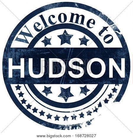 hudson stamp on white background