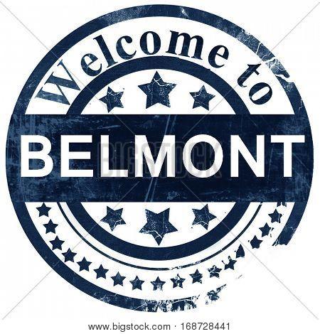 belmont stamp on white background