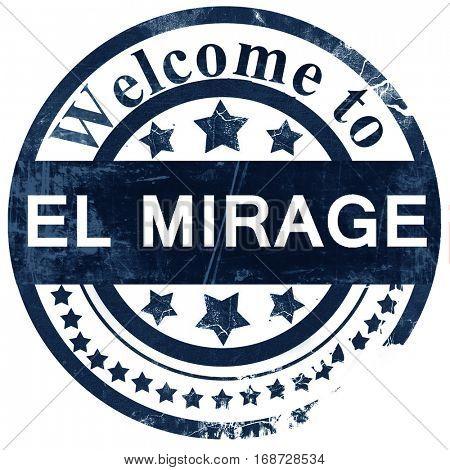 el mirage stamp on white background