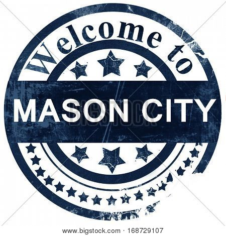 mason city stamp on white background