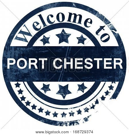 port chester stamp on white background
