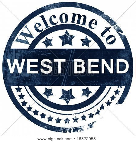west bend stamp on white background