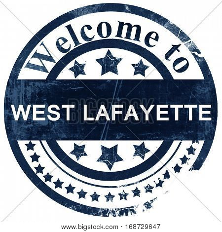 west lafayette stamp on white background