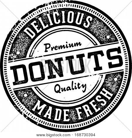 Fresh Made Donuts Vintage Style Sign