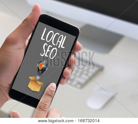 LOCAL SEO ad, advertising, announce, blurred media