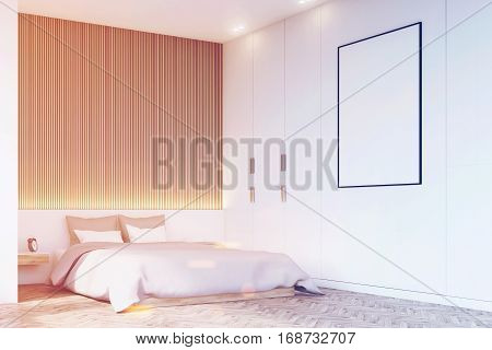 Corner Of Bedroom With Wooden Floor, Toned