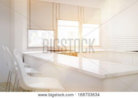Corner Of White Kitchen, Toned