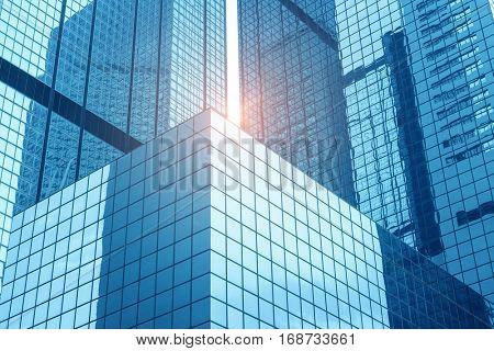 Gigantic skyscrapers from below