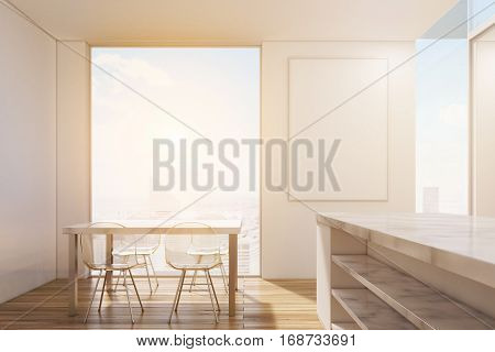 Marble Kitchen With Poster, Toned