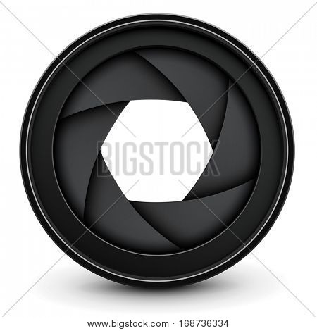 Camera lens shutter background, vector illustration.