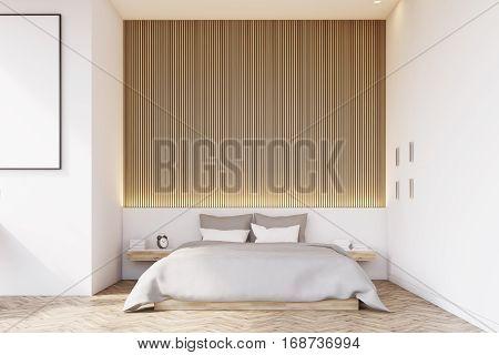 Front View Of Bedroom With Wooden Floor