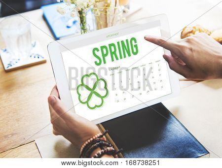 Spring Break Weather Planner Concept