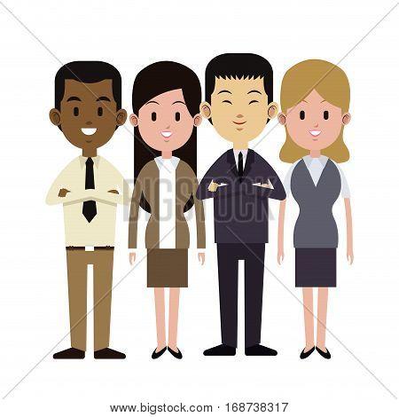 group people multi-ethnic business work vector illustration eps 10