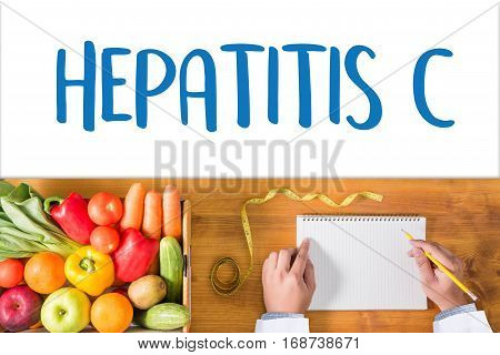 Hepatitis C   Report With Composition Of Medicaments   Medical  Doctor Concept