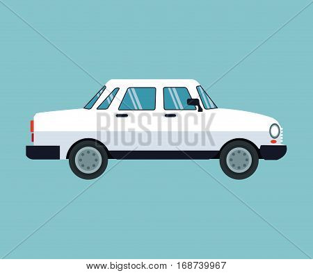 white car sedan transport vector illustration eps 10