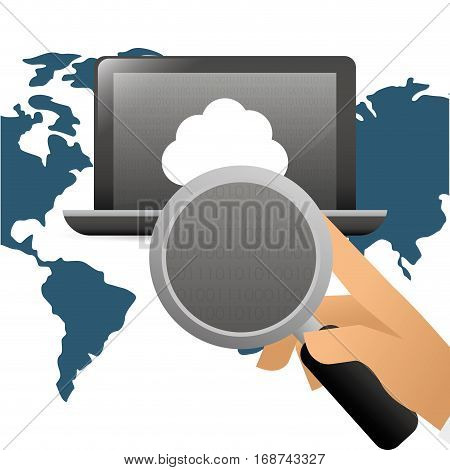 computer web hosting icon, vector illustration image