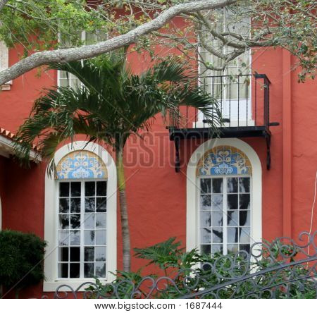 Windows On A Spanish Style Home