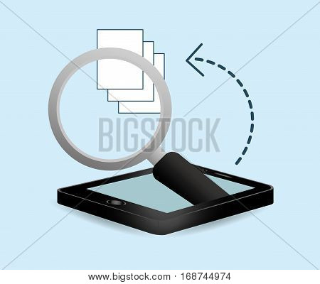 smartphone optimization and tuning data center, vector illustration