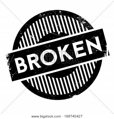 Broken rubber stamp. Grunge design with dust scratches. Effects can be easily removed for a clean, crisp look. Color is easily changed.
