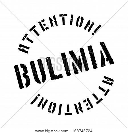 Bulimia rubber stamp. Grunge design with dust scratches. Effects can be easily removed for a clean, crisp look. Color is easily changed.
