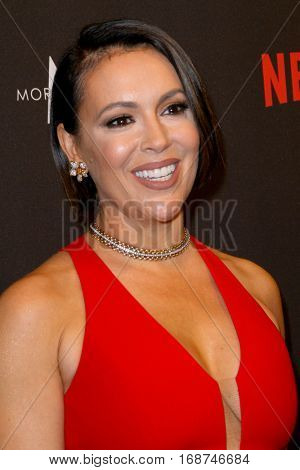 Alyssa Milano arrives at the Weinstein Company and Netflix 2017 Golden Globes After Party on Sunday, January 8, 2017 at the Beverly Hilton Hotel in Beverly Hills, CA.