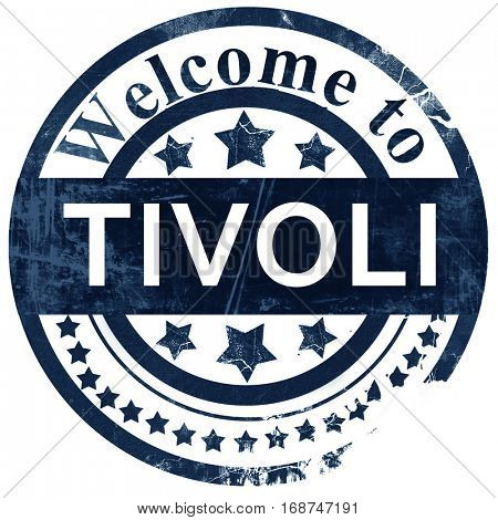 Tivoli stamp on white background