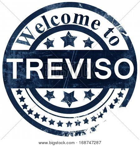 Treviso stamp on white background