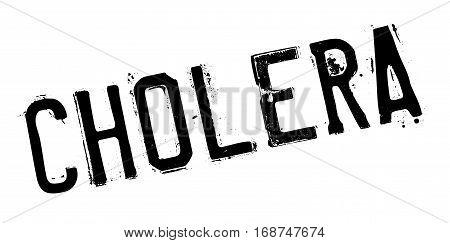 Cholera rubber stamp. Grunge design with dust scratches. Effects can be easily removed for a clean, crisp look. Color is easily changed.