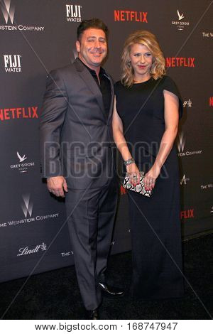 Jodie Sweetin and Justin Hodak arrive at the Weinstein Company and Netflix 2017 Golden Globes After Party on Sunday, January 8, 2017 at the Beverly Hilton Hotel in Beverly Hills, CA.
