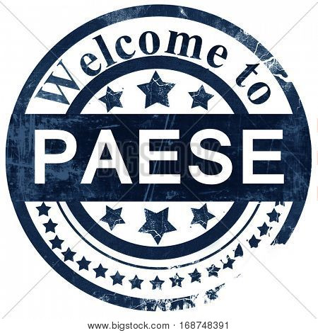 Paese stamp on white background