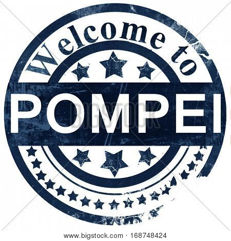 Pompei stamp on white background