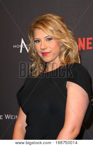 Jodie Sweetin arrives at the Weinstein Company and Netflix 2017 Golden Globes After Party on Sunday, January 8, 2017 at the Beverly Hilton Hotel in Beverly Hills, CA.