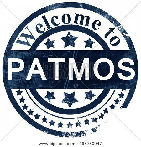 Patmos stamp on white background