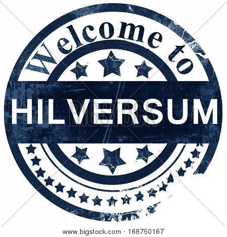 Hilversum stamp on white background